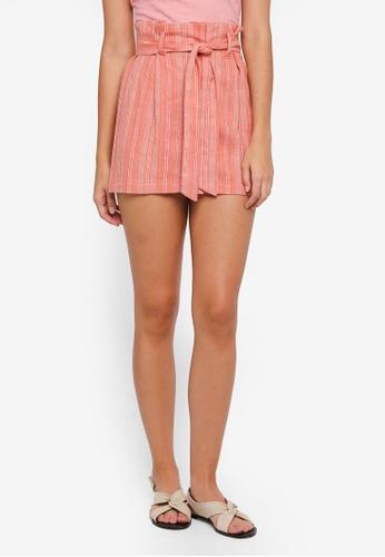 TOPSHOP red Petite Stripe Mini Skirt F985DAA7E2CE41GS_1
