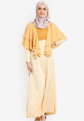 Nuraini yellow Jasmeen Jubah NU222AA91IXGMY_1