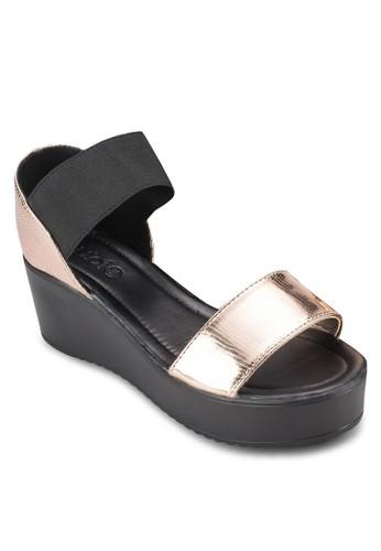 Rocklea 寬帶厚底楔型跟涼鞋, 女esprit 香港鞋, 鞋