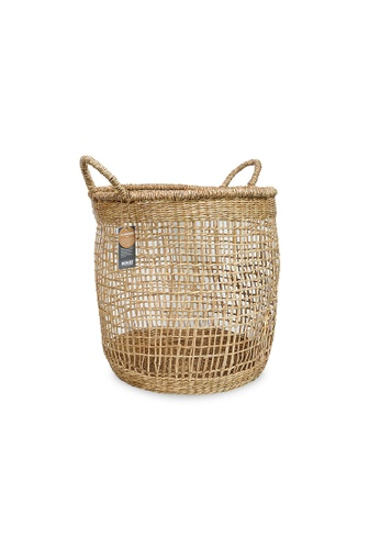 HOUZE ecoHOUZE Seagrass Round Basket With Handles (Large) 9712EHL2671E2AGS_1
