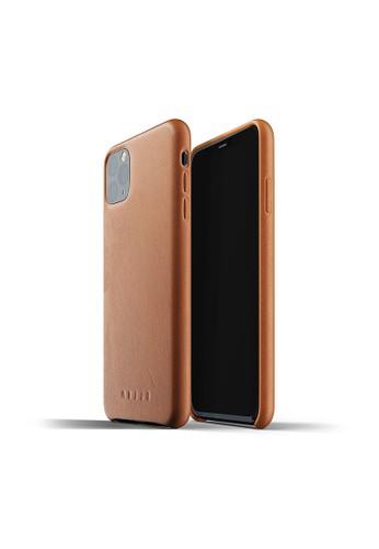 Mujjo brown Mujjo Full leather case for iPhone 11 Pro Max Tan 787F1AC29FD973GS_1