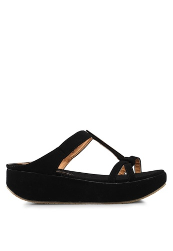 Mimosa black Wedge Sandals 52B01SH591D02AGS_1