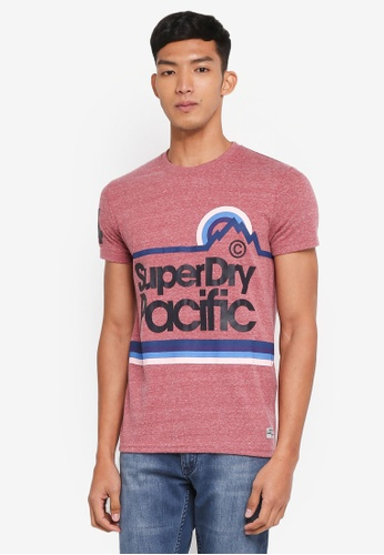 Superdry red Pacific Tee 2C149AA0AF97F2GS_1