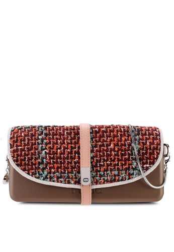 Hoola Hoola brown Camilla Clutch - Bronze Red Tweed with Snake Chain 3CF74AC8AA3DF6GS_1