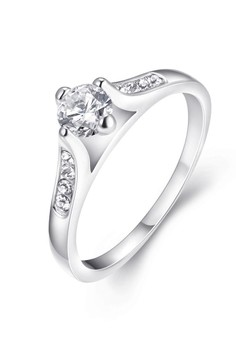 Amadine Patinum Plated Ring Size 6 by Elite