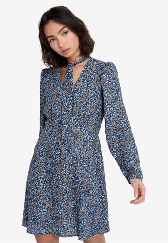 ONLY blue Karla Bow Mini Dress DDF18AAF017356GS_1