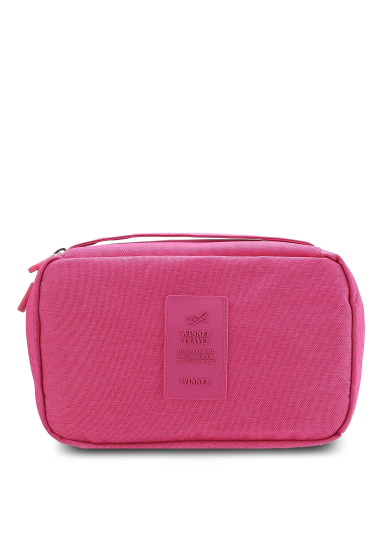 4dfef297efcb Black Pouch Lightweight Travel Water Bagstationz Resistant Friday Toiletries  Rose Pink BSq87g4