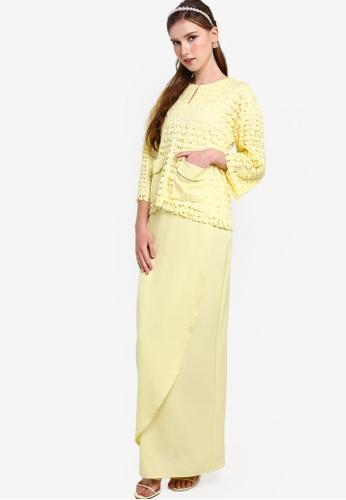 Lubna yellow Lace Kurung Kedah E2716AA2A67DB8GS_1
