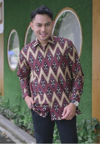 Batik Talenta Exclusive red kemeja batik pria lengan panjang SongNG BDA0EAA21365AEGS_1
