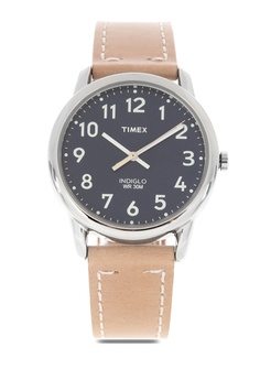 ce614009454 TIMEX beige Easy Reader Strap Leather Watch 1C7D1AC26752D8GS 1