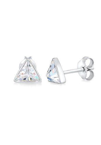 ELLI GERMANY silver Elli Germany Earrings Triangle Geo Basic Geo Zirconia 925 Sterling Silver D60E7ACFADCBA6GS_1