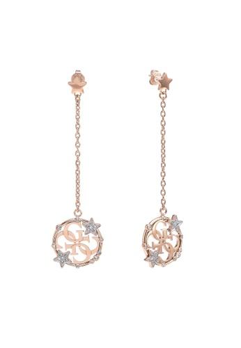 Guess pink 4G Big Circle Pentant Earrings 23ABCAC2A33B15GS_1