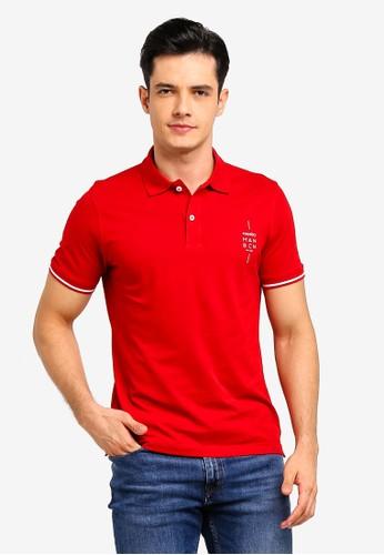 MANGO Man red Logo Cotton Pique Polo Shirt 8BB9BAAC38BC30GS_1