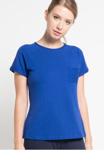 EDITION blue Raglan Loose T-Shirt ED101AA31QZCID_1