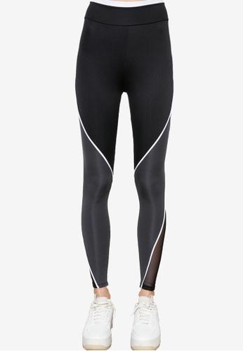 Trendyol black Mesh Detailed Sports Leggings B6690AA6C0FFC0GS_1