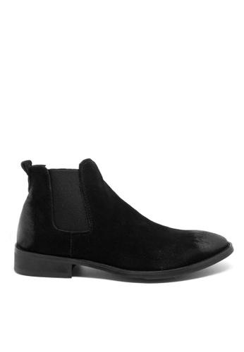 Twenty Eight Shoes black Cow Suede Vintage Elastic Boots MC126 53CE5SHD727748GS_1