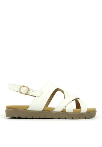 Carlo Rino white Carlo Rino 333070-167-01 Slingback Flat Sandal (White) CA220SH0S9H6MY_1
