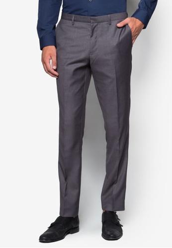 Burton Menswear London grey Grey Skinny Fit Trousers BU964AA08LELMY_1