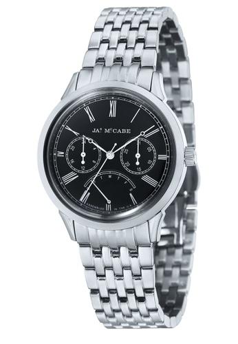 James McCabe silver James Mccabe HERITAGE JM-1019-11 Men's Stainless Steel Solid Bracelet Watch D4ACCAC54C24E1GS_1
