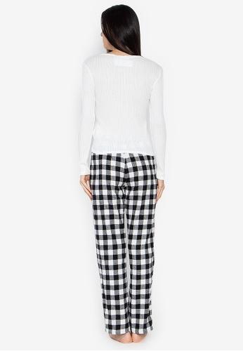 51ab3b9d4f Shop Women Secret Long Pajama Set Black And White Checkered Pants Online on  ZALORA Philippines