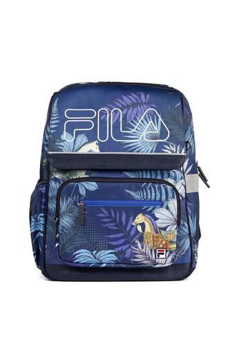 FILA navy FILA KIDS FILA Logo Theme Printed Backpacks 56EEAKC4381419GS_1