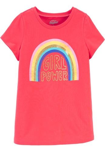 Oshkosh B'gosh red OSH KOSH Girl Red Rainbow Graphic Tee E3C81KAEEF7757GS_1