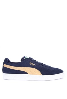 new product 790b0 aad6e Puma navy Suede Classic Lifestyle Sneakers F7965SH332E428GS 1