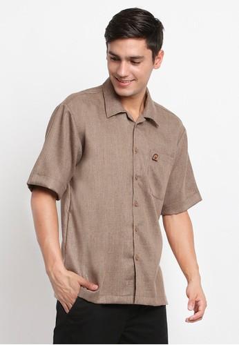 Mellon brown Mellon Walnut Chewy Pin Shirt 01935AACFEAAB8GS_1