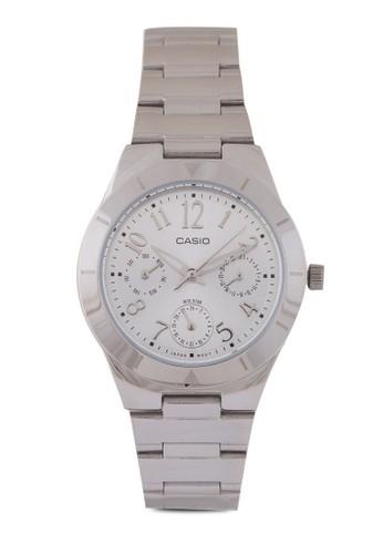 Casio LTP-2069D-7A2V尖沙咀 espritDF 多功能不銹鋼錶, 錶類, 不銹鋼錶帶