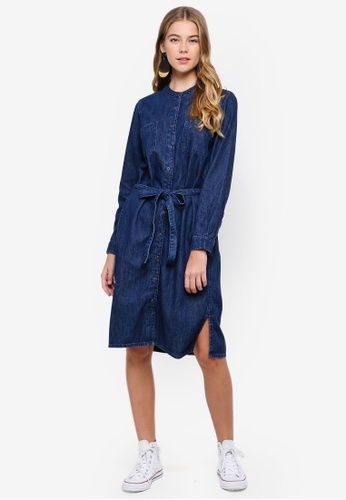ESPRIT blue Denim Long Dress 613CBAAB44E269GS_1