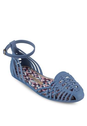 zalora 折扣碼鏤空繞踝涼鞋, 女鞋, 鞋