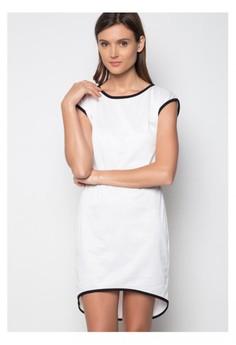 Sara White Long Back Dress