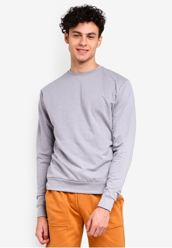 Penshoppe grey Relaxed Fit Pullover D0B32AA4111F02GS_1