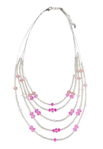 層次串珠閃飾項鍊, 飾品esprit地址配件, 飾品配件