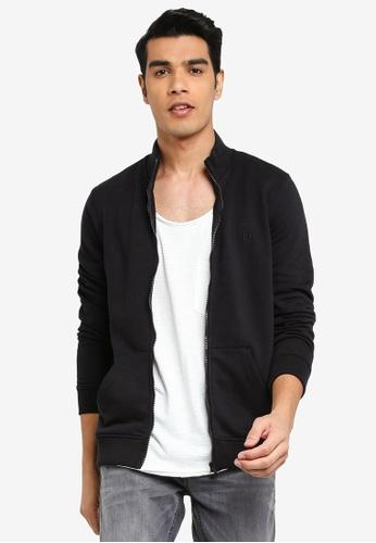 BLEND black High Collar Zippered Sweat Jacket DD196AAD499E32GS_1