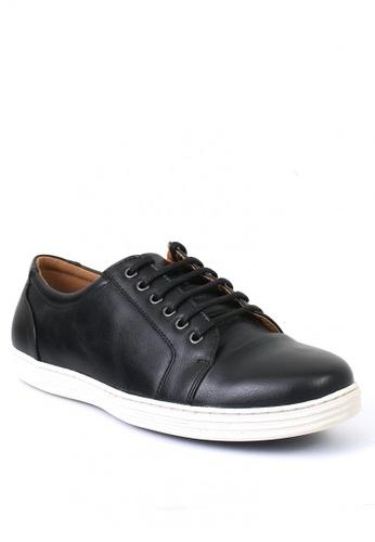 7soles black Prester Men's Sneakers 4CFF3SHF2FAB4DGS_1
