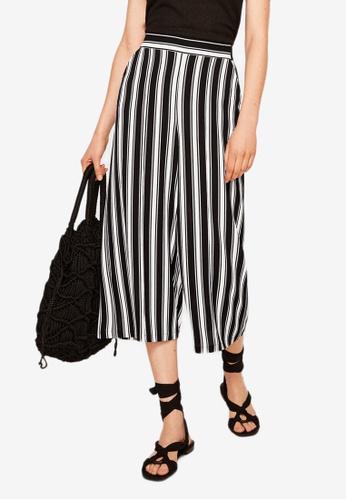 Mango black and multi Printed Crop Trousers 28188AA350EF53GS_1
