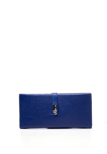 Dazz blue Calf Leather Kara Magnetic Wallet - Blue DA408AC48VGHMY_1