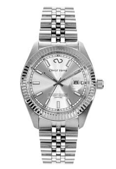 harga Christ Verra Automatic Men's Watch CV 72025G-11 SLV White Silver Stainless Steel Zalora.co.id
