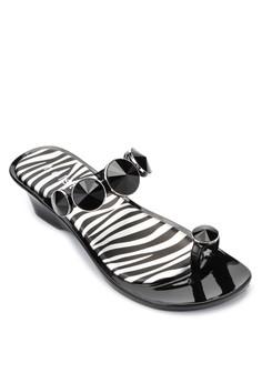 Zebra Runway Wedge Slides