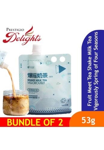 Prestigio Delights Fruit Meet Tea Shake Milk Tea Vigorously Spring of Four Seasons Milk Tea 53g Bundle of 2 F2BB9ES14ECB9CGS_1
