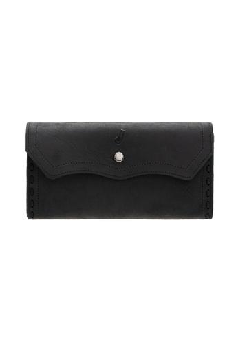 Jack Studio black Jack Studio Unisex Leather Handcraft Premium Snap Closure Long Wallet FC9E8AC0C454CEGS_1