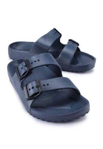 Rubi 海軍藍色 Gilmore Double Buckle Slides 00294SH509A051GS_1