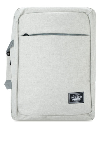 Chocollection grey Mabiz 2-Way Backpack EFFF5AC3E15D9FGS_1