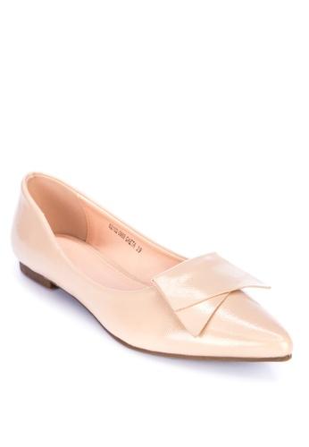 S&H beige Gaeta Pointed Toe Flats 3C6D8SHB350239GS_1