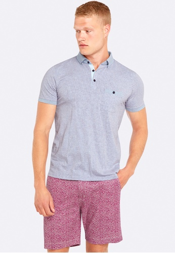 Oxford blue Percy Printed Polo OX512AA0HB2ISG_1