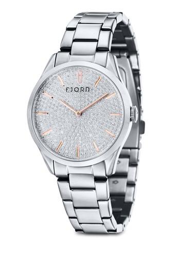 VENDELA 雙指針金屬鍊esprit salon hk圓框錶, 錶類, 飾品配件