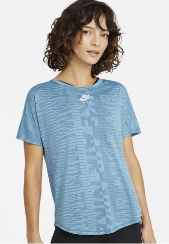 Nike blue Women's Air Short-Sleeve Top EC45EAA55BF48CGS_1