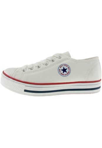 Maxstar Maxstar Women's C1 6 Holes Canvas Low Top Casual Sneakers US Women Size MA168SH77BZIHK_1