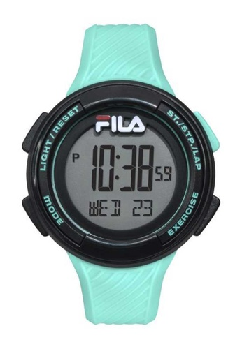 FILA Watches black Fila Black And Turqouise Rubber Watch 241BEAC926FDF9GS_1